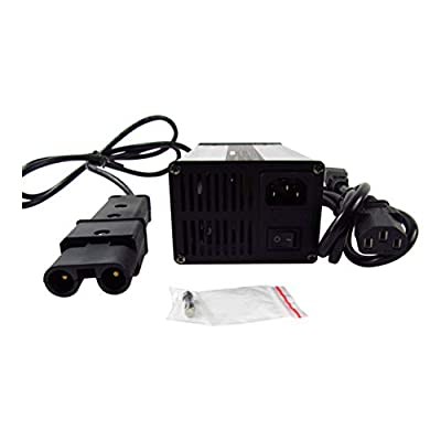 New 48V 5A Battery Charger for Yamaha Golf Cart G19 G22 SCR4817172 CRG-419 Club Car, with 2 Pin Plug, 48 Volt 5 Amp