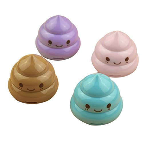 Blue Vessel Emoji Poop Anspitzer Students 'Lieblings Mini Double Hole Bleistift Messerschärfer Stationery