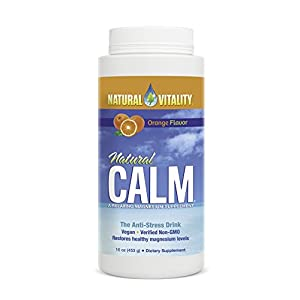 Natural Vitality Natural Calm Drink - 16 Oz. Anti-Stress Drink, Orange Flavored Drink, Water-Soluble. Magnesium Supplement