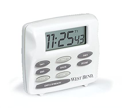 West Bend 40053 Triple Timer With Clock White