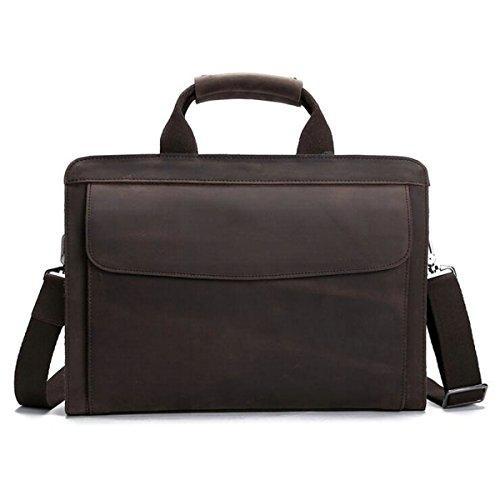 Leather Litigator Laptop Briefcase - 5