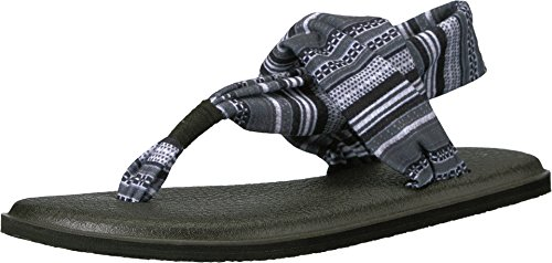 Sanuk Women's Yoga Sling 2 Prints Black/Grey/White Sonoma Sandal