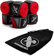 Hayabusa Boxing Hand Wraps Perfect Stretch 4.0 Mexican Style for Men and Women - 3 Pairs w/Washbag, 180 inch