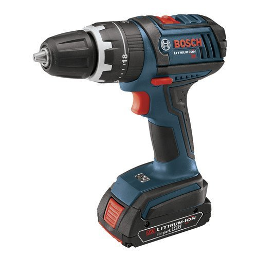 Bosch HDS181-03 18-Volt Lithium-Ion 1 2-Inch Compact Tough Hammer Drill Driver Kit with 2 Batteries, Charger and Case