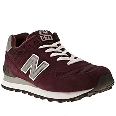 new balance 373 suede & mesh burgundy trainers