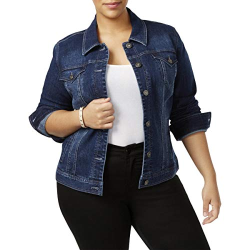 Style & Co Plus Size Embroidered-Back Denim Jacket (16W)