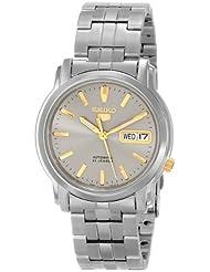 Seiko Mens SNKK67 Seiko 5 Grey Dial Stainless Steel Automatic Watch