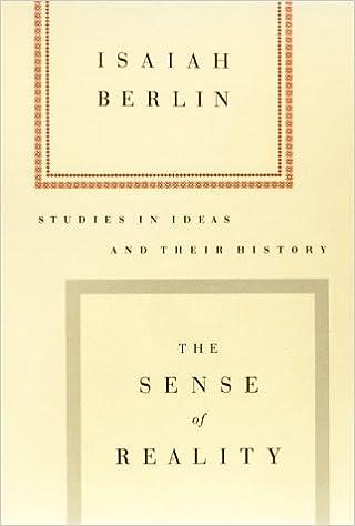 8009f31023 SENSE OF REALITY: Isaiah Berlin: 9780374525699: Amazon.com: Books