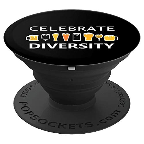 (Celebrate Diversity Craft Beer Lover IPA Prost Oktoberfest  PopSockets Grip and Stand for Phones and Tablets)