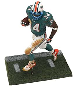 Ricky Williams 2nd Edition #34 Miami Dolphins Green Jersey Blue Teal Face Mask Color McFarlane NFL Six Inch Action Figure by NFL Sportspicks