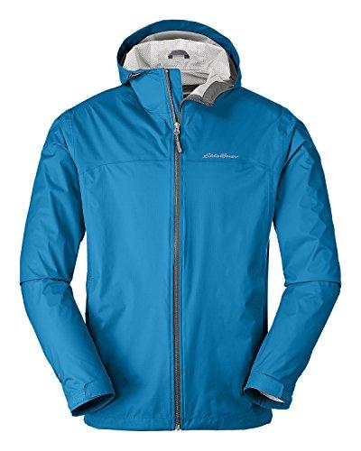 Eddie Bauer Men's Cloud Cap Lightweight Rain Jacket, Wave Regular L by Eddie Bauer