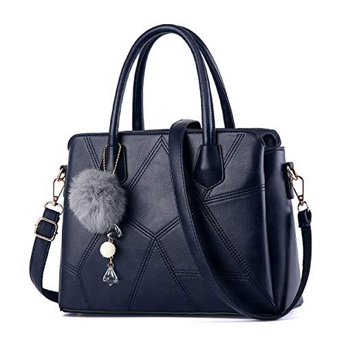 1406 Cuero Compras Blue Shopper Pu Trabajo Exull De Bolso Mano Mujer La Tote Bandolera Para b Hombro Bag Estudiante Superior Asa Elegante fwzq68X