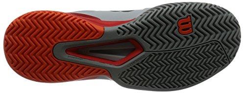 Wilson Herren Rush Pro 2.5 Perlblau / Feuriges Rot / Flamme