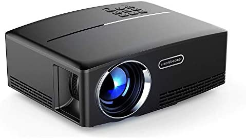 LQQZZZ Proyector LCD, Mini Proyector 1080P Dispositivo De 1800 ...