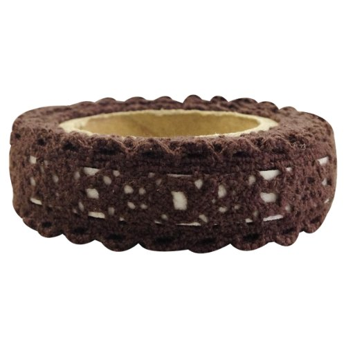 - Wrapables Decorative Lace Tape, Brown