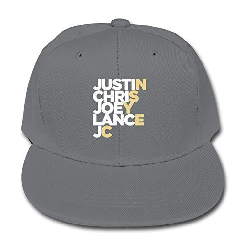 Child Baseball Hat, NSYNC Band Logo-Justin Chris Joey Lance Jc Plain Cotton Baseball Cap Sun Protect Ajustable Hats for Boys Girls Gray