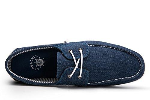 Globale Win Globalwin Heren Toevallige Leeglopers Lace Up Klassieke Drijvende Bootschoenen Blue1663