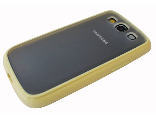 avci Base 4260344980789 cristal Coque TPU avec cadre pour Samsung Galaxy S3 i9300/S3 Neo 19301 Baby Beige