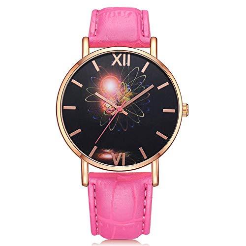 Mujer de los Hombres Reloj de Cuarzo de Cuero Reloj de Pulsera de Moda Planeta Júpiter: Amazon.es: Relojes