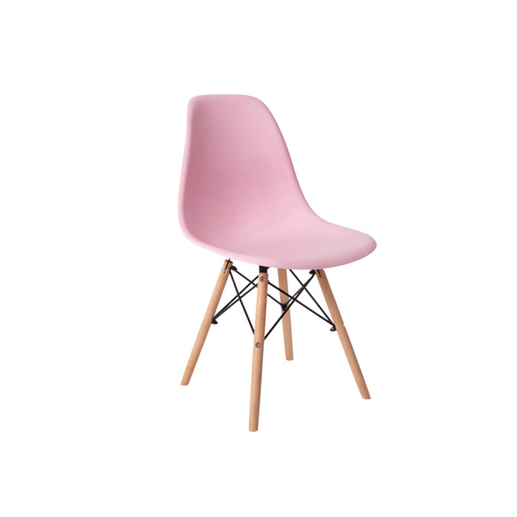 Pink Chair bar Stool Iron Chair Kitchen Chair Dining Chair,PP Cushion +Solid Wood Legs,Loading 100KG,for Furniture, Kitchen, bar, Cafe, Restaurant