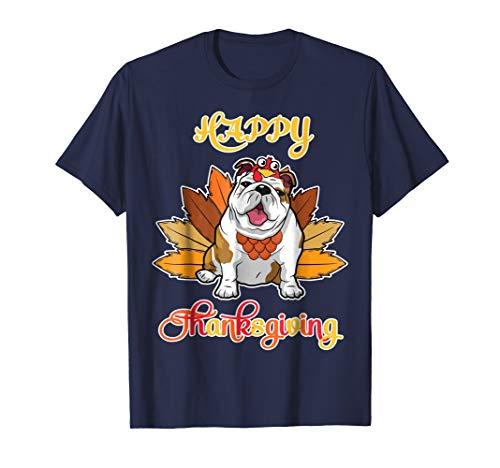 - Turkey Pilgrim Ride Olde English Bull Dog Happy Thanksgiving