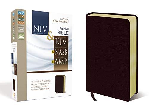 NIV, KJV, NASB, Amplified, Classic Comparative Parallel Bible, Bonded Leather, Burgundy: NIV and   KJV and   NASB and