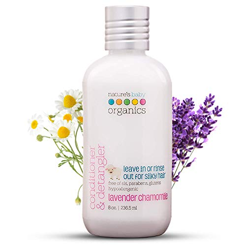 (Nature'S Baby Organics Conditioner and Detangler, Lavender Chamomile, 8.8 Ounce)