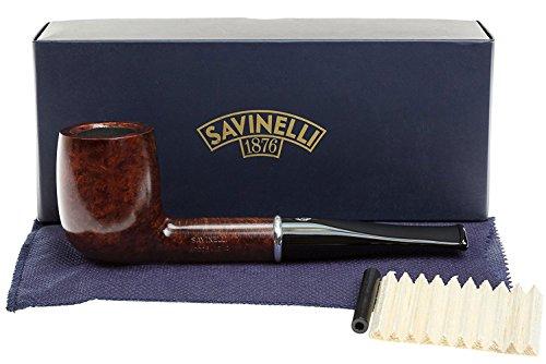 Savinelli Italian Tobacco Smoking Pipes, Arcobaleno Smooth Brown 111 ()