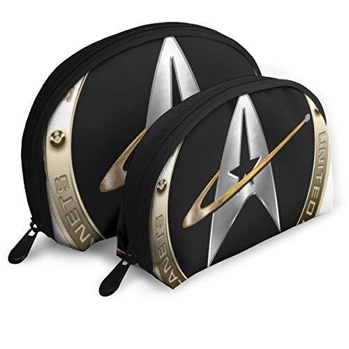 Ennieee Walter Margaret Hittings Neva Star Trek 50 Set of 2 Portable Makeup Bag Cosmetic Pouch Bag Pen Pencil Case Travel Bag for Women Girls and ()