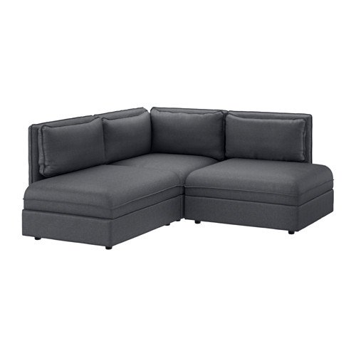 Ikea Sectional, 2-seat, Hillared dark gray 4204.142926.1026