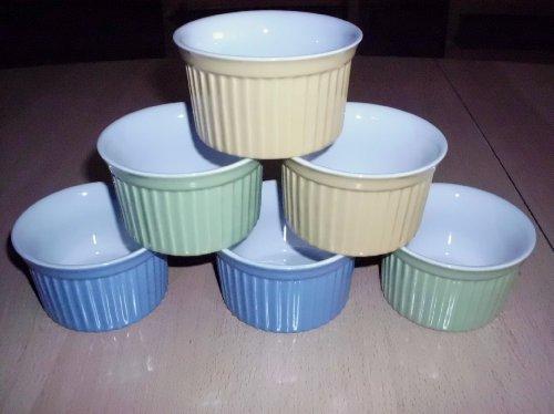 Ragoutfin Schalen Pastetenform gelb grün blau 12 Stück