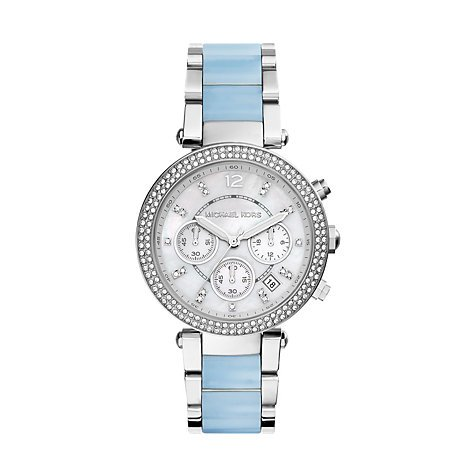 Michael Kors Parker Silver Dial Two-Tone SS Multi Quartz Ladies Watch MK6138