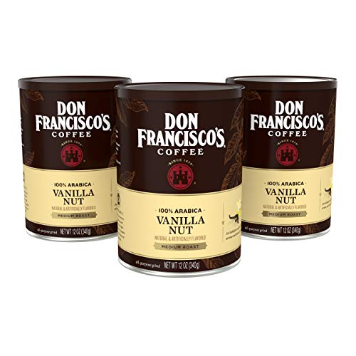 Don Francisco's Vanilla Nut Flavored Ground Coffee, 12 oz. (Pack of 3)