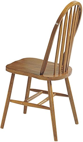 ACME 06344OAK Set of 4 Nostalgia Deluxe Arrow Back Windsor Chair, Oak (Kitchen Windsor Chair)