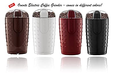 Ovente CG225 Electric Grinder with Stainless Steel Blades for Coffee Beans, Spices, Nuts, Grains by Ovente