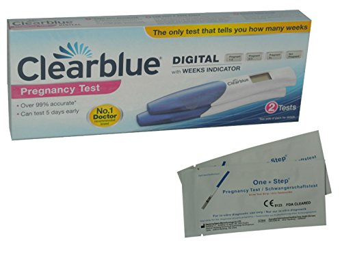 2 x Clearblue Digital Pregnancy Tests with Conception Indicator (Twin Pack)  and 2 x Ultra Early 10mIU Pregnancy Tests