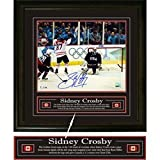 Sidney Crosby - Signed & Framed 16x20 Team Canada 2010 Golden Goal Puck in Net