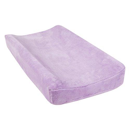 (Trend Lab Lavendula Plush Changing Pad Cover, Purple)