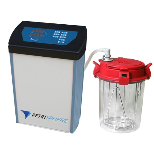 Neutec BTIL.112011-04 PetriSphere Anaerobic Gas System Processing Unit with One Jar and Connection, <2 mbar Ultimate Pressure