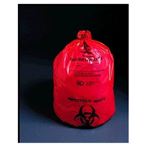 WP000-8-900 8-900 8-900 Bag Biohazard Saf-T-Sure 11x8.5'' 1-2 Gallons Red 1000/Ca Medical Action Industries by Medical Action Industries