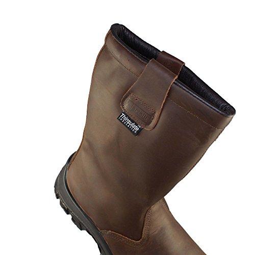 Artelli Extreme Boot Cap S3 SRC Sicherheitsstiefel Forststiefel Stiefel Braun Braun