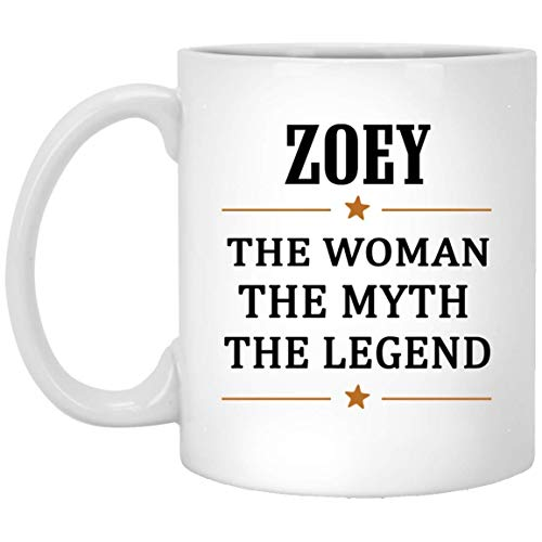 (The Woman The Myth The Legend Zoey Tea Cup Large - Unique Birthday Christmas Gifts For Zoey Coffee Tea Cups White Ceramic 11 Oz)