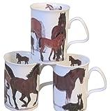 Roy Kirkham Lancaster Mug, Horses, Set of 6