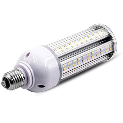25W LED Corn Light Bulb 6000K Cool White 3000 Lumen Super Bright, Standard Screw Base E26 led Corn Bulbs Replace 100W Metal Halide/HID/HPS/CFL Bulb Best for Garage/Barn/Warehouse Fixture Retrofit ()