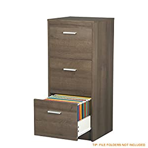 "DEVAISE 3-Drawer Wood Vertical File Cabinet / Letter Size, 16.2""W x 15.7""D x 37.9""H"