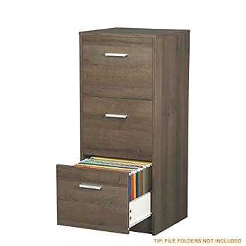 "DEVAISE 3-Drawer Wood Vertical File Cabinet / Letter Size, 16.2""W x 15.7""D x 37.9""H"