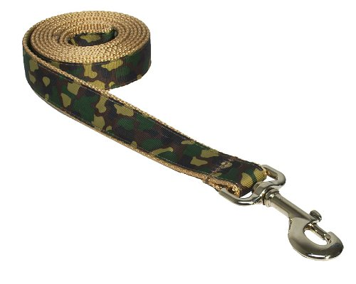 Large Camouflage Dog Leash: 1″ wide, 6ft length – Made in USA., My Pet Supplies