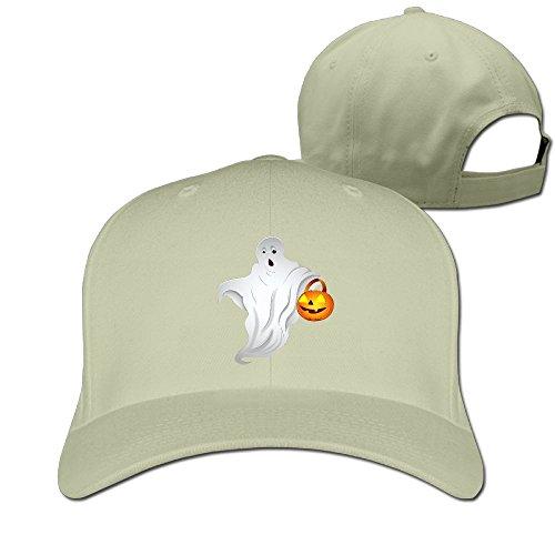 [Happy Halloween Unisex Adjustable Basketball Hat & Cap Natural] (Halo Halloween Costumes Elite)