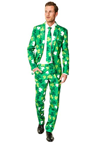 St Patricks Day Suit (OppoSuits Men's Patrick Party Costume Suit, Green, 46)