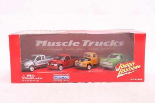 Johnny Lightning 4 Diecast Pickup Trucks Set